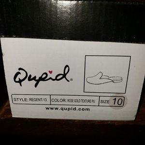 Qupid Shoes - Qupid Rose Gold Mules